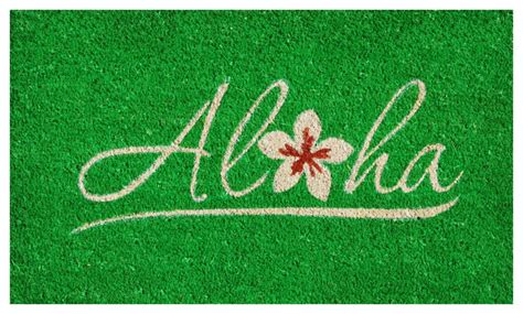 aloha rubber st home more aloha doormat view in your room houzz