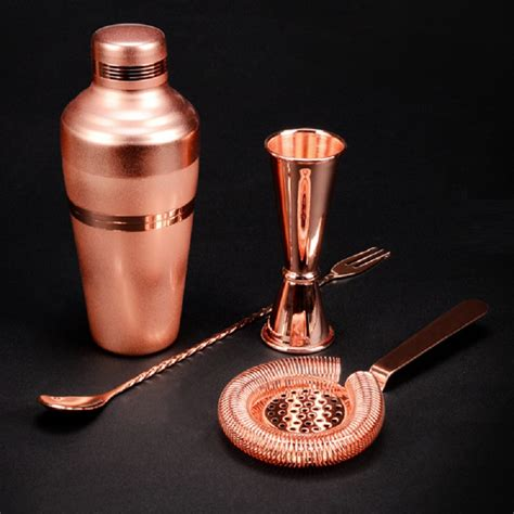 barware sets bar set premium copper plated shaker barware set 4