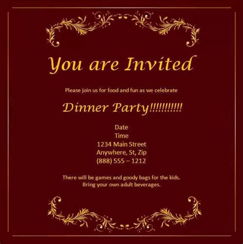 dinner invitation card template free 52 meeting invitation designs free premium templates