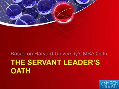 Harvard Mba Oath by Level Up A Seminar On Youth Servant Leadership