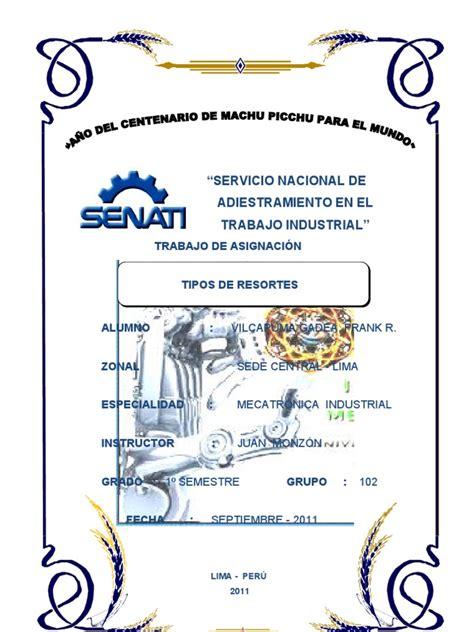caratulas de senati para word caratula senati