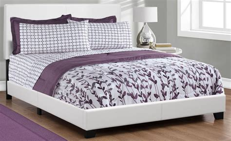 white platform bed queen queen white platform bed from monarch coleman furniture