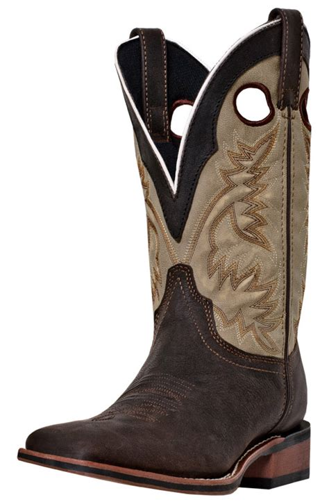 laredo mens collared 11 quot square toe cowboy boots brown
