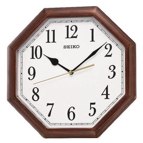 Clock Seiko Qxa599 seiko wood effect wall clock octagonal qxa599b
