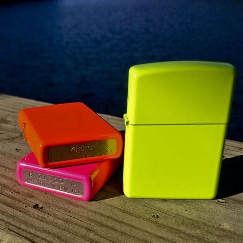 Zippo Original Neon Pink No Logo 28886 stand out with a neon zippo lighter pink 28886 yellow