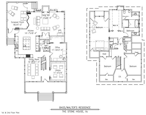 Stone House Designs And Floor Plans | bass walter s floor plan stone house design