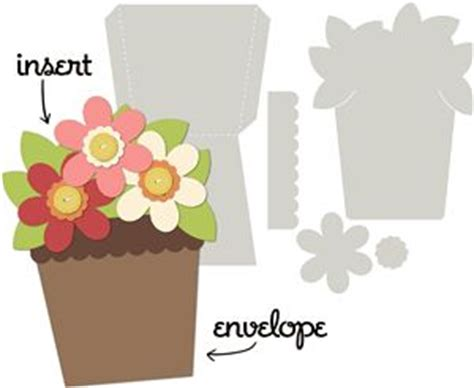 potted flower card templates 554 best images about silhouette cards on