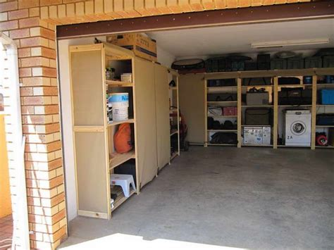 ideas diy garage shelves with brick walls different types