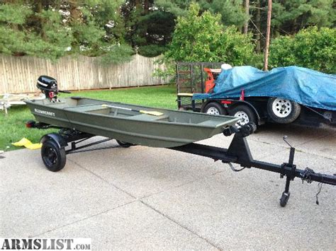 12ft jon boat with trailer armslist for sale 12ft alumacraft with 5hp mercury