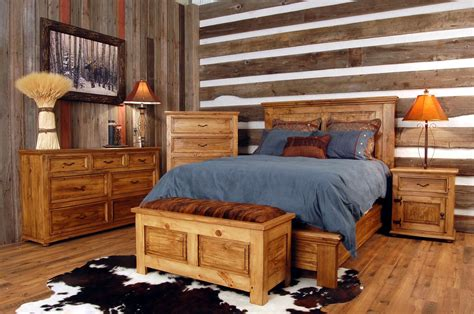 exquisite log cabin house interior bedroom ideas with rustic bedroom furniture set added master