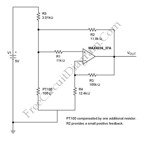 pt100 temperature sensor circuit diagram analog compensation circuit for pt100 rtd temperature
