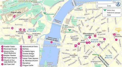printable map prague maps update 21051488 prague tourist map prague