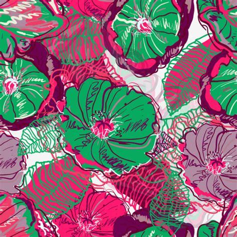 cute handpainted pattern beautiful handpainted patterns background 04 vector free