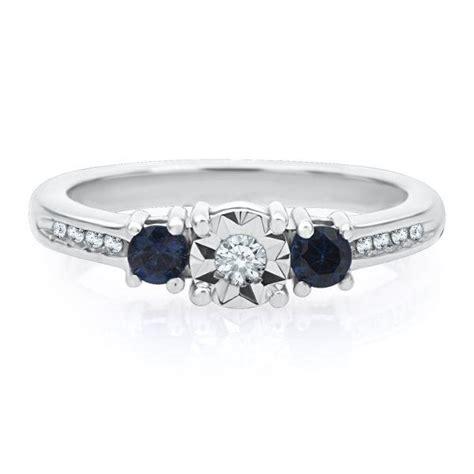 blue sapphire promise ring in from helzberg diamonds