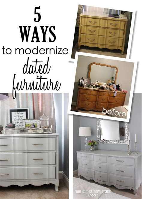 how to make your house look modern 5 ways to modernize dated furniture the homes i have made