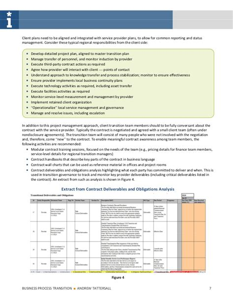 sle transition plan business process transition plan template 28 images