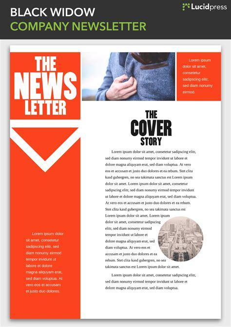 newsletter design ideas inspire lucidpress
