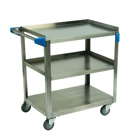 Seville Classics 3 Shelf Commercial Utility Cart by Seville Classics 3 Shelf Ultra Zinc Heavy Duty Commercial