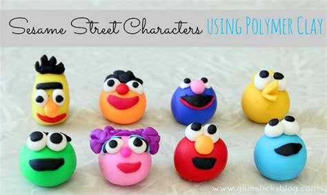 Home Decor Planner sesame street characters using polymer clay gluesticks