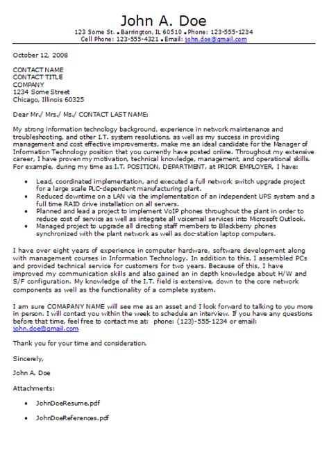 Informatics Cover Letter by Information Technology Cover Letter