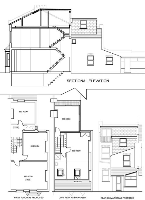 terraced house loft conversion floor plan 116 best house renovation images on pinterest