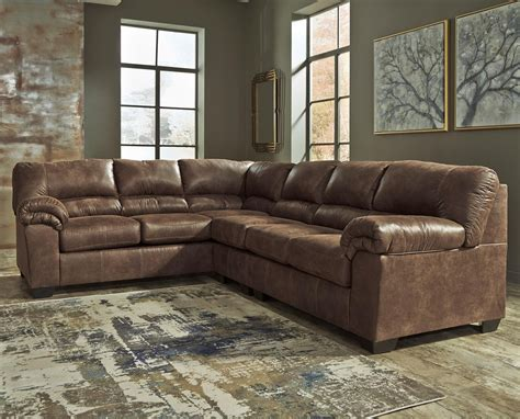 signature design sectional sofa signature design by bladen 3 faux leather