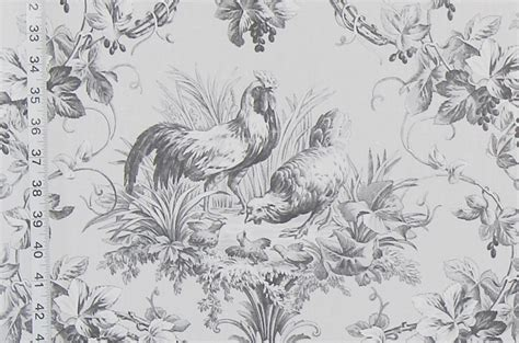 black and white rooster wallpaper french rooster toile fabrics listed brickhouse fabrics