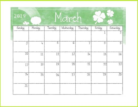 printable march desk calendar template planner