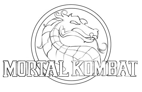 mortal kombat coloring pages mortal kombat coloring pages to and print for free