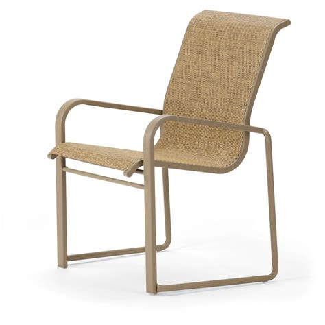 Stack Sling Patio Chair by Telescope Casual Dash Sling Patio Stacking Dining Arm