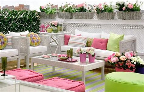 bright pink and green colors for outdoor home decorating