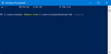 powershell  delete files  folders  windows