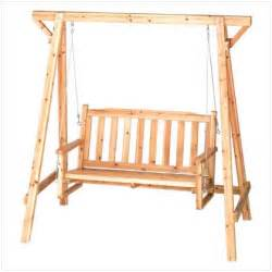 Rustic pine outdoor garden chair bench swing with oil and lacquer