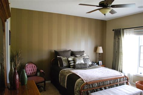 striped accent wall traditional bedroom chicago  ideal painting home improvements