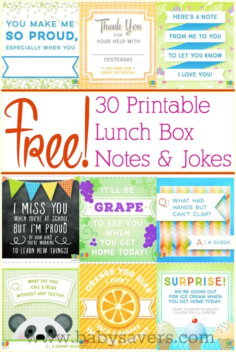printable lunch notes jokes free printable lunch box notes and jokes for all ages