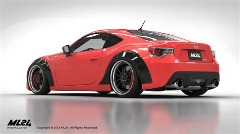 frs scion body kit ml24 scion fr s wide body fender arches and aero lip kit