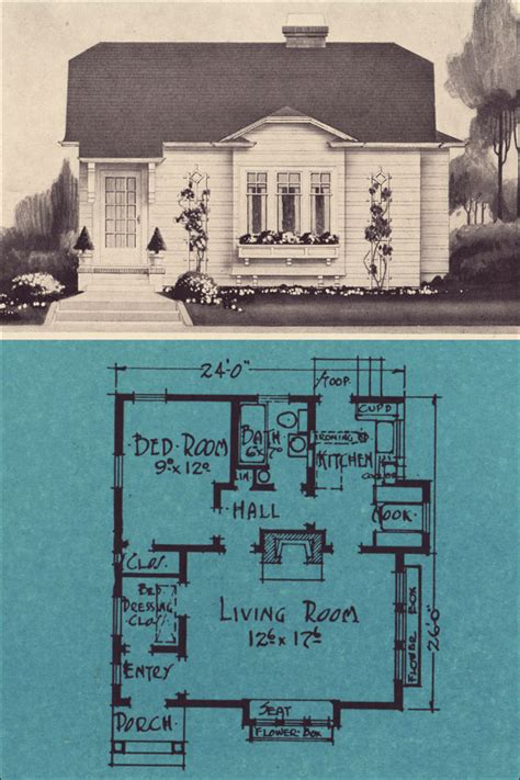 home plans seattle one bedroom modern cottage for 1924 stetson post