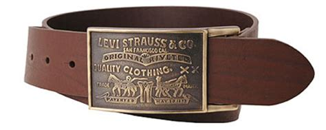 levis large buckle leather belt brown 11lv0253 papikian