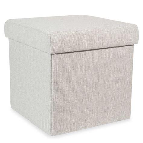 hedmark grey foldable storage stool maisons du monde