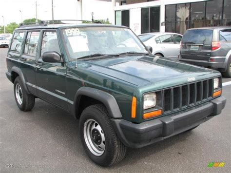 green jeep cherokee 1999 forest green pearl jeep cherokee se 51542280 photo