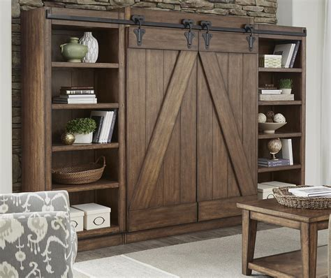 white barn door entertainment center entertainment center with piers and sliding barn doors by