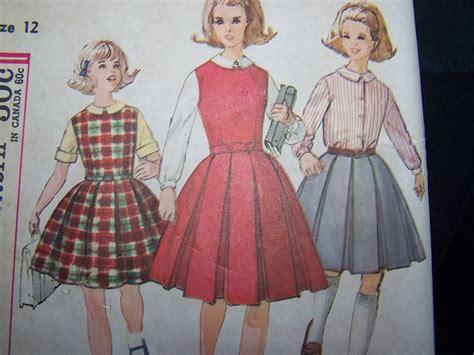 sewing pattern pleated skirt vintage girls sewing pattern 4643 blouse box pleat dress