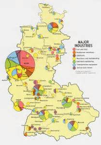 West Germany Map by Former West Germany Major Industry 1972 Full Size