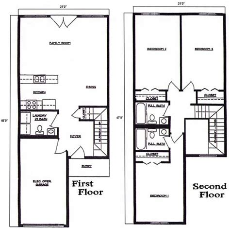 2 story apartment floor plans floorplan 3 bedroom 2 5 bath 2 story townhome at lincoln