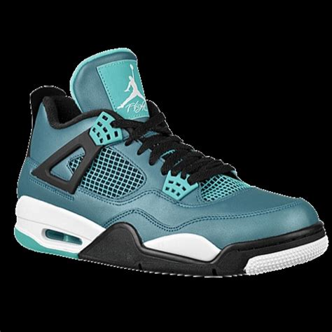 s basketball shoes black 4 light blue
