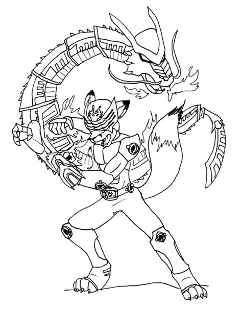 How To Draw Dragon Mask Coloring Pages Kamen