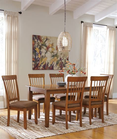 dining room side table berringer rectangular dining room table 6 side uph chairs dining room groups lande s furniture