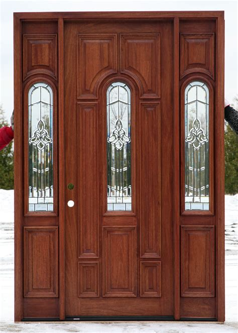 Wood Front Doors With Glass Wood Exterior Doors With Glass Marceladick