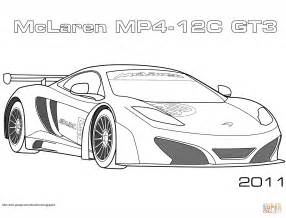 2011 mclaren mp4 12c gt3 coloring free printable coloring pages