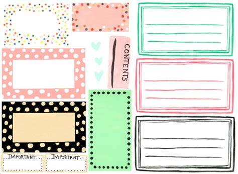 printable blank stickers weekly wrap up free designer organizer label downloads